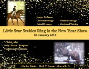 Little Star Stables Ring in the New Year Show @ Little Star Stables | Graceville | Florida | United States